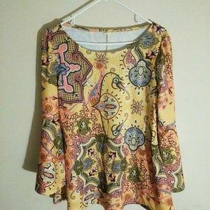 Tops - Paisley long sleeve blouse